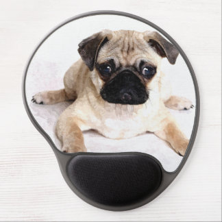 Cute Pug Puppy Gel Mouse Pad