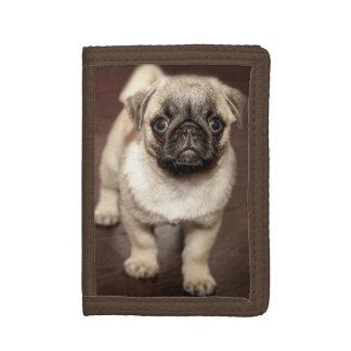 Cute Pug Puppy Photo Tri-fold Wallet