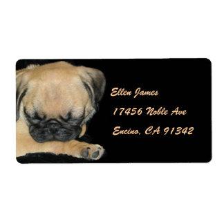Cute Pug Puppy Shipping Label