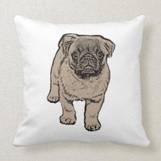 Cute Pug Throw Pillow 51 cm x 51 cm