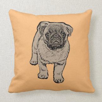 Cute Pug Throw Pillow 51 cm x 51 cm -Orange