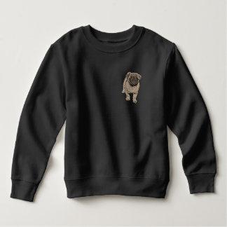 Cute Pug Toddler Fleece Sweatshirt -Black