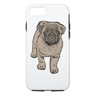 Cute Pug Tough iPhone 7 Case - White