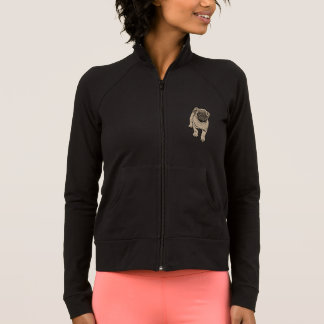 Cute Pug Women's Practice Jacket -Black