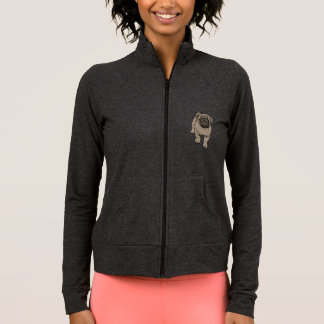 Cute Pug Women's Practice Jacket -Gray
