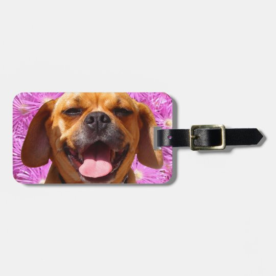 Cute Puggle Luggage Tag