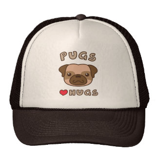 Cute Pugs love hugs, for puppy lovers Cap