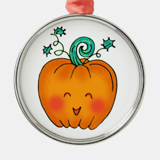 Cute Pumpkin Christmas Ornament