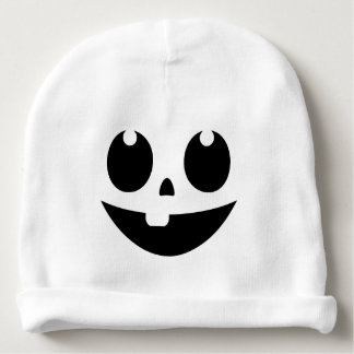 Cute Pumpkin Face Baby Beanie