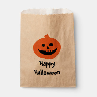 Cute Pumpkin Halloween  Design Favour Bags