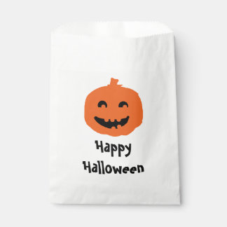 Cute Pumpkin Halloween Party Candy Favour Bags