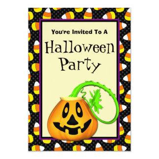 Cute Pumpkin Halloween Party Invitations
