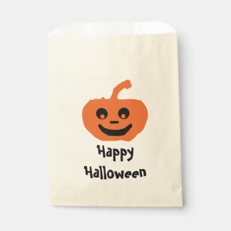 Cute Pumpkin Happy Halloween Favour Bags