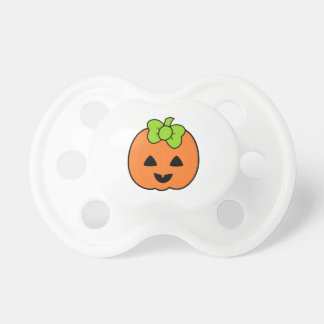 Cute Pumpkin Jack O Lantern with Cute Bow Pacifier