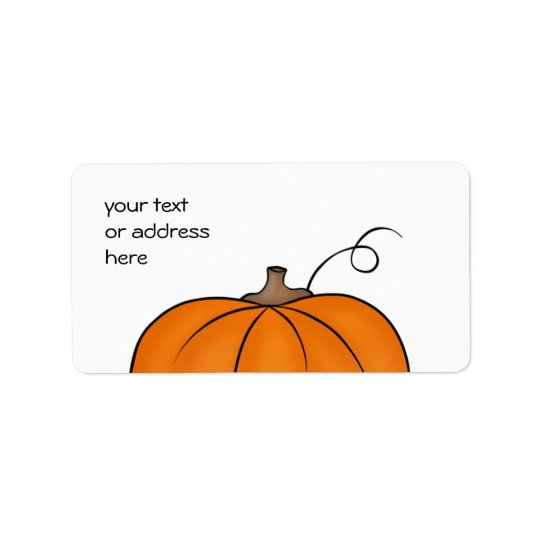 Cute pumpkin labels for your text or address
