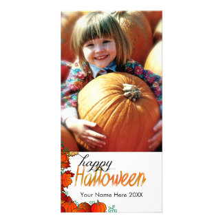 Cute Pumpkin Patch Graphic With Happy Halloween Card