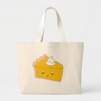 Cute Pumpkin Pie Slice Jumbo Tote Bag