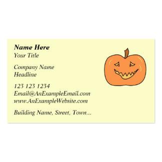 Cute Pumpkin, Smiling. Halloween. Business Cards