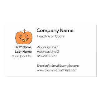Cute Pumpkin, Smiling. Halloween. Business Card