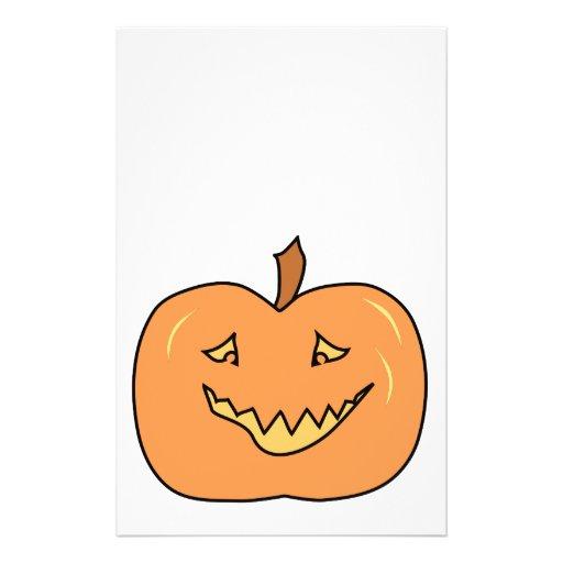 Cute Pumpkin, Smiling. Halloween. Custom Flyer
