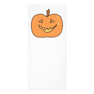 Cute Pumpkin, Smiling. Halloween. Custom Rack Cards