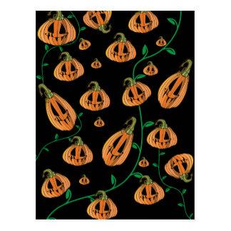 Cute Pumpkins Halloween Postcard