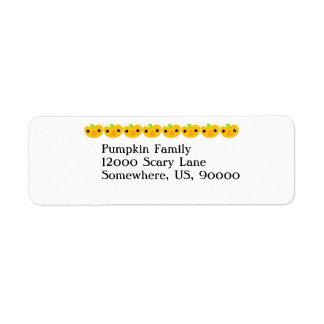 Cute Pumpkins Return Address Label