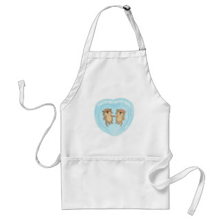 Cute Pun Humor You Are my Otter Half Apron
