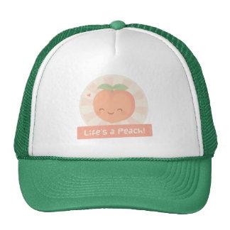 Cute Pun Life is a Peach Food Humor Cap