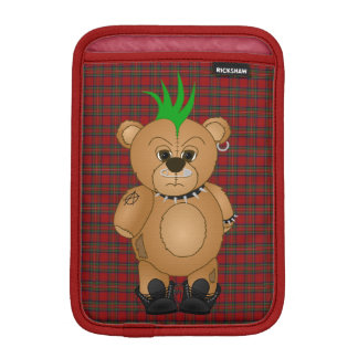 Cute Punk Rock Teddy Bear Cartoon Animal iPad Mini Sleeve
