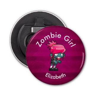 Cute Punk Rock Zombie Girl Creepy Cute Bottle Opener