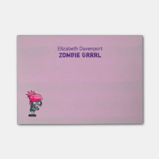 Cute Punk Rock Zombie Grrrl Post-it Notes