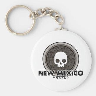 Cute Punk Skull New Mexico Keychain