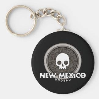 Cute Punk Skull New Mexico Keychain Dark