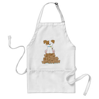 Cute Puppy and Bones Standard Apron