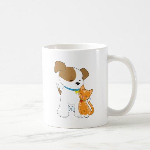 Cute Puppy and Cat Coffee Mug