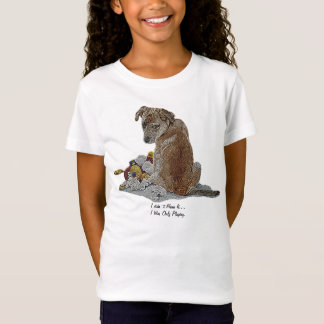 Cute puppy and teddy realist dog art kids t-shirt