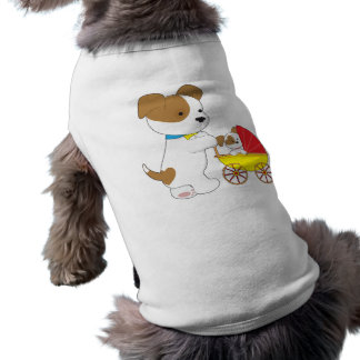 Cute Puppy Baby Carriage Sleeveless Dog Shirt
