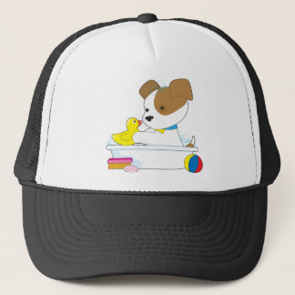 Cute Puppy Bath Trucker Hat