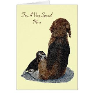 Cute puppy beagle mum dog original verse greeting card