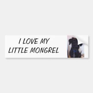 Cute puppy bumper sticker