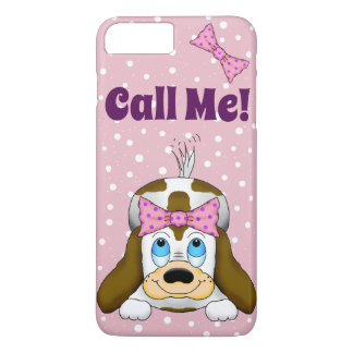 """Cute Puppy """"Call Me"""" Cell Phone Case"""