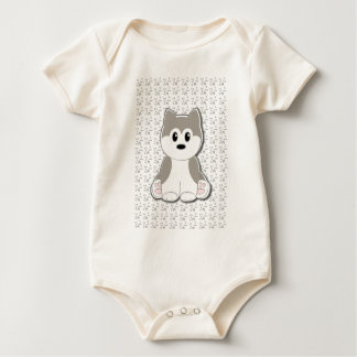 Cute puppy cartoon baby bodysuit