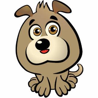 Cute Puppy Cartoon Standing Photo Sculpture