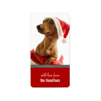 Cute Puppy Christmas Tags for Presents Address Label