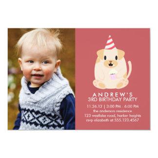 Cute Puppy Dog Custom Photo Birthday Party 13 Cm X 18 Cm Invitation Card