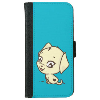Cute Puppy Dog Illustration iPhone 6 Wallet Case