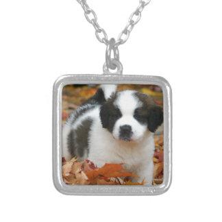 Cute Puppy Dog Pet Saint Bernard Personalized Necklace