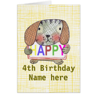 Cute Puppy dog says Happy Birthday Card