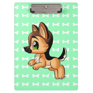 Cute Puppy Durable Clipboard | Letter + A4 Sized